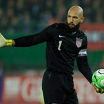 United States goalkeeper Tim Howard holds the ball during the 1-0 loss to Austria in Vienna on Tuesday.