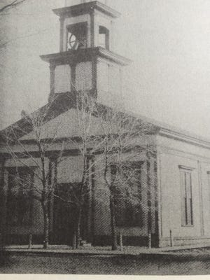 First Baptist Church's first location, on the corner of what was then Union (now Military Road) and Forest Avenue. It remained the home for the congregation until 1907.