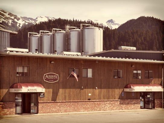 The Alaskan Brewing Co. brewery in Juneau, Alaska.