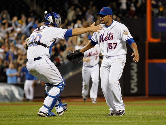 Johan Santana pitched the first no-hitter in Mets history