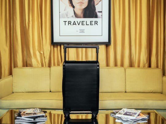 The Trunkster suitcase comes with an articulating hinge
