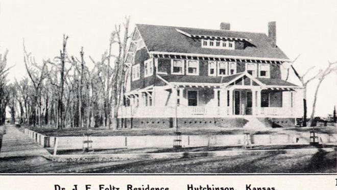 Built in 1909, J.E. Foltz and his wife, Gertrude, lived in this showcase home for 60 years.