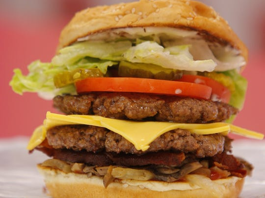 Five Guys Burgers come in several different sizes with plenty of toppings to please a variety of appetites.