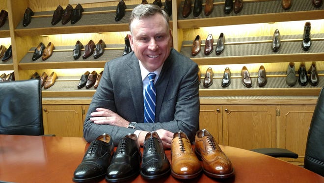 Allen Edmonds CEO Paul Grangaard brought back some of the classic models of shoes that helped revive the iconic brand. --- photo by: Steve Jagler
