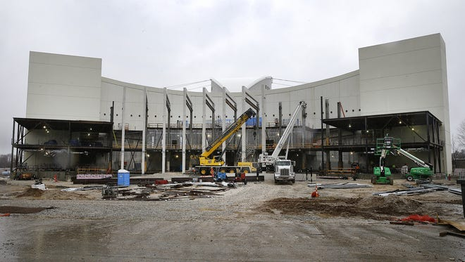 Indiana University 's men's and women's basketball seasons are complete, the renovation of Assembly Hall may now get kicked into high gear. Offices have been moved, water has been turned off, photos and trophies have been put into temporary storage.