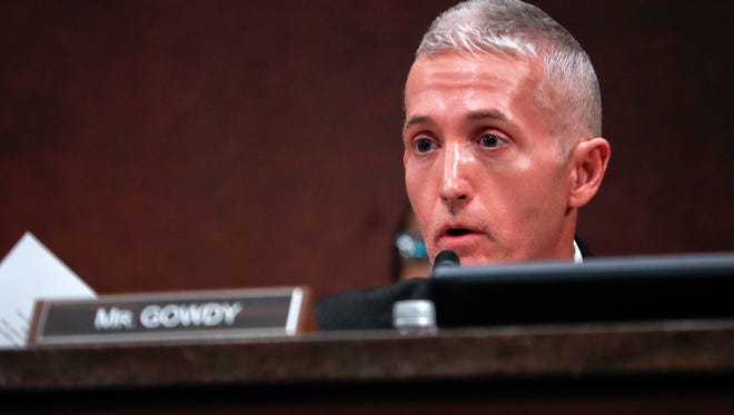 Rep. Trey Gowdy is pictured May 23, 2017 during a congressional hearing. Gowdy will become the head of the Oversight and Government Reform Committee.