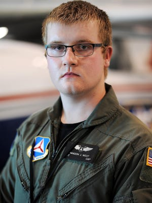 Brandon West, 18, serves with the South Dakota Wing of the Civil Air Patrol.