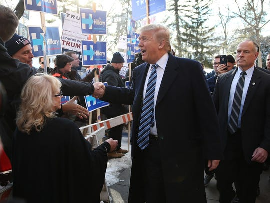 Donald Trump in Manchester, N.H., on Feb. 9, 2016.