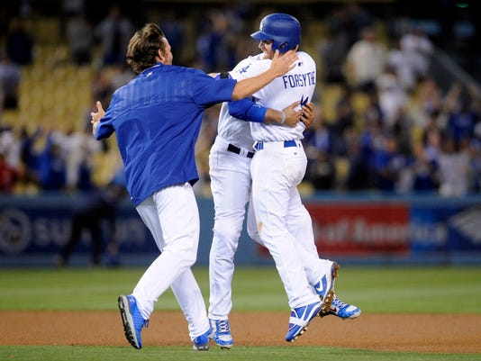 USP MLB: ST. LOUIS CARDINALS AT LOS ANGELES DODGER S BBN LAD STL USA CA