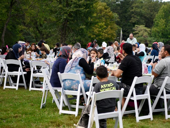 Syrian refugees gather Sunday at Garret Mountain Reservation