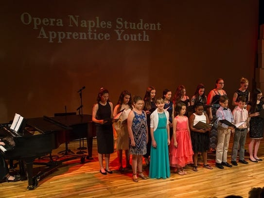 Opera Naples student vocalists sing ensembles and arias