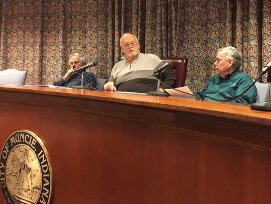 Muncie Sanitary District board members Joe Evans, Bill
