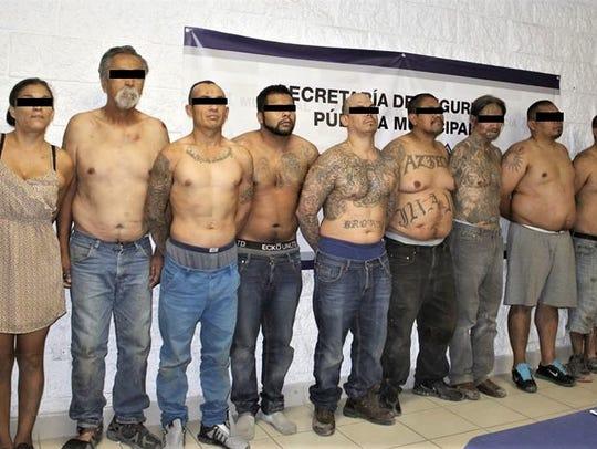 Juárez police arrested a crew of the Barrio Azteca