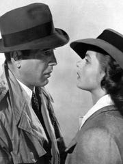 Humphrey Bogart and  Ingrid Bergman in a scene from