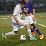 Fowlerville's Bailey Edwards, right, and his teammates were held scoreless in a 6-0 loss to Williamston on Tuesday.