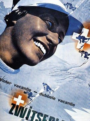 Swiss tourism poster by Herbert Matter.