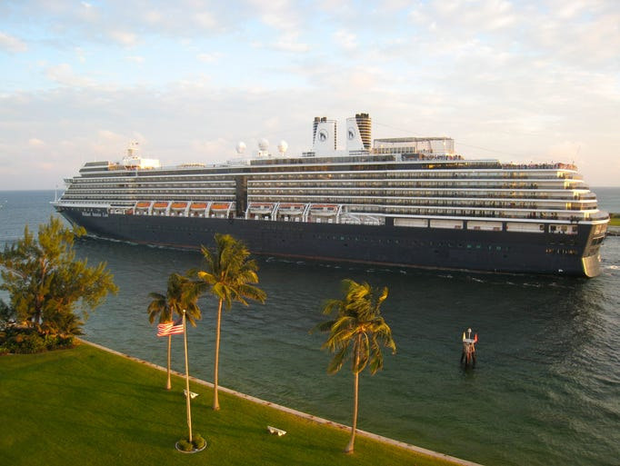 The third and current Westerdam is 950 feet long by