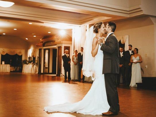 Victoria and Dominic Tumolo of Clayton share a dance