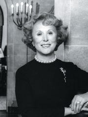 Estee Lauder, known for her cosmetics brand, is interred