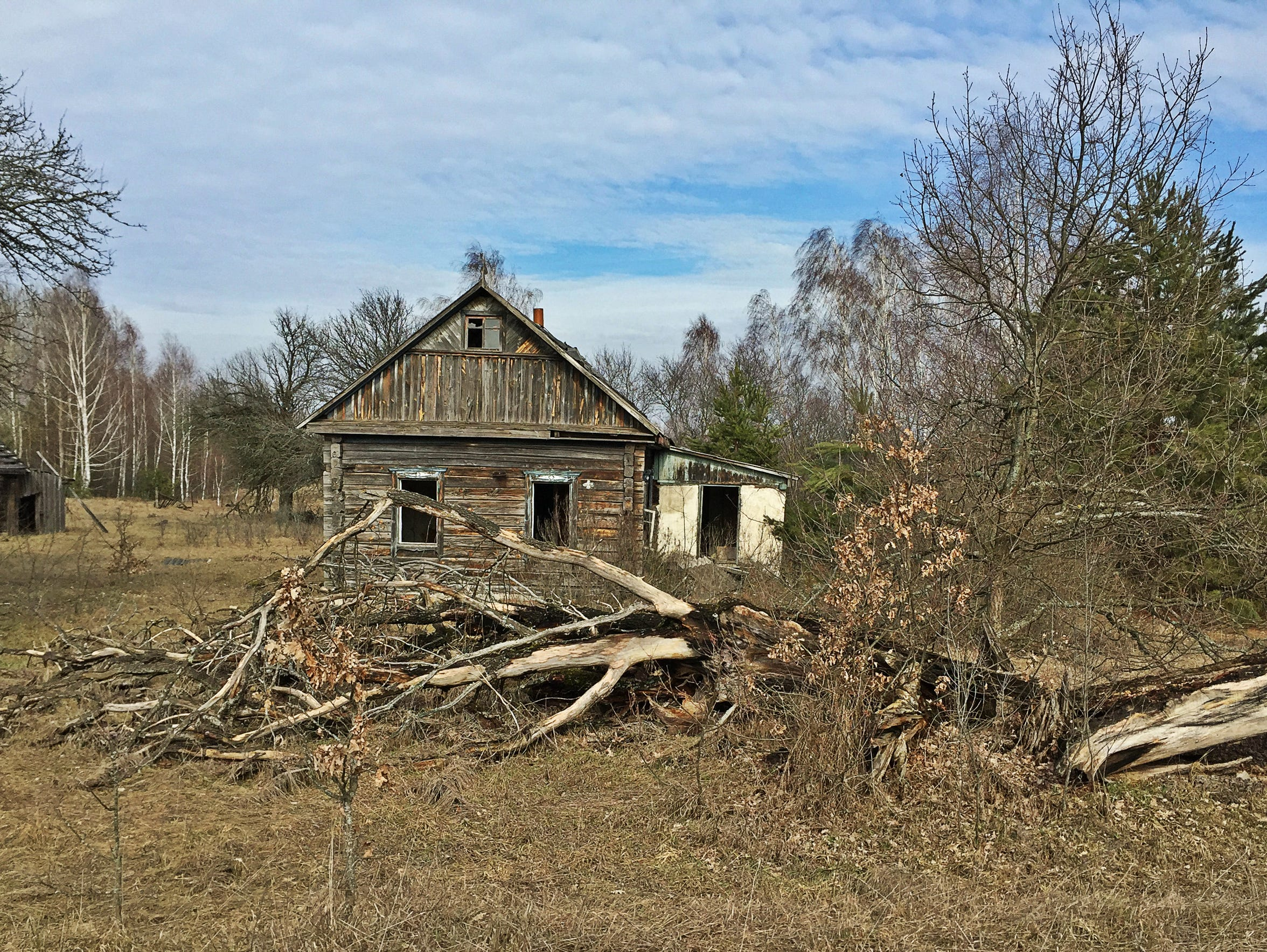 A derelict house inside the Exclusion Zone in Belarus.