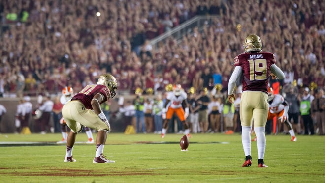 Roberto Aguayo and the Seminoles will aim to finish the latter stage of the season strongly in hopes of a spot in the college football playoff.
