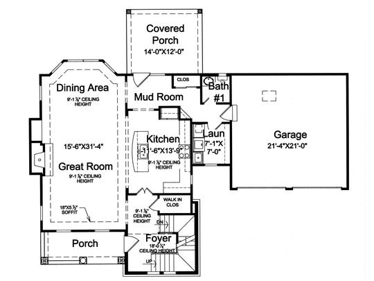 The layout allocates space where you really want it: the great room, kitchen, and master suite.