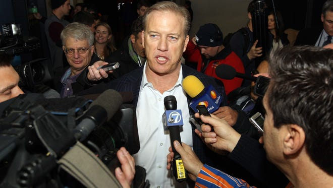 Hall of Fame quarterback John Elway, now vice president of football operations for the Denver Broncos, made the decision in 2012 to sign Peyton Manning and trade Tim Tebow, at the time a popular Broncos player who had just take the team to the playoffs. Elway won two Super Bowls as a player for the Broncos.