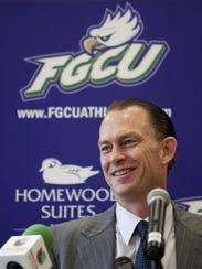 FGCU basketball coach Joe Dley