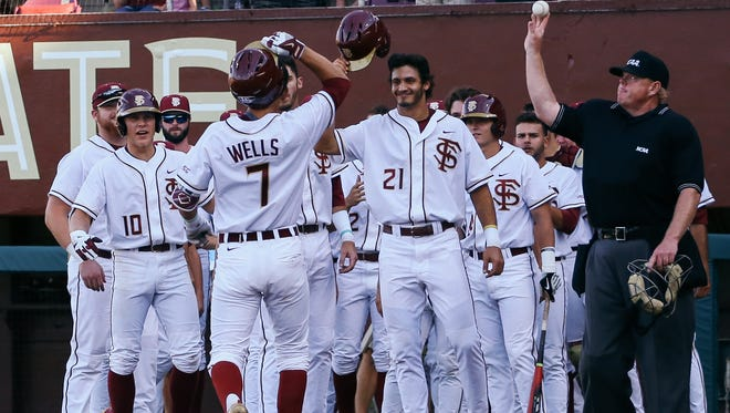 Steven Wells hit his second career home run against Southern Miss in a 7-2 FSU win.