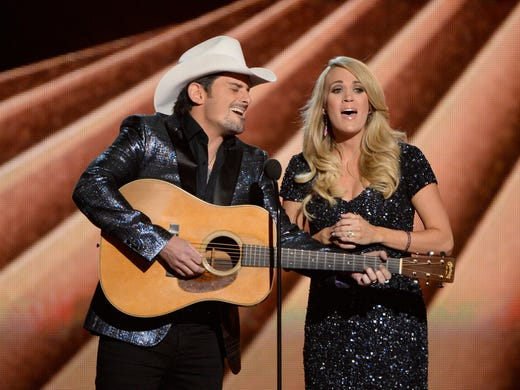 Brad Paisley and Carrie love to host the CMA Awards.