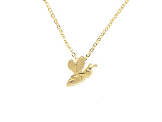 A gold bee necklace from Sally Jane would make a nice