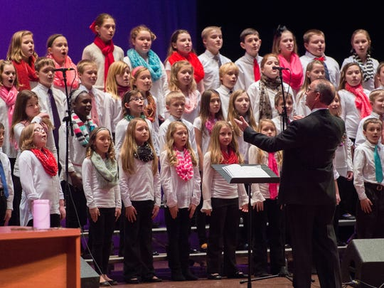 Scott School fourth-sixth grade choirs perform during the 2015 Really Big Show.