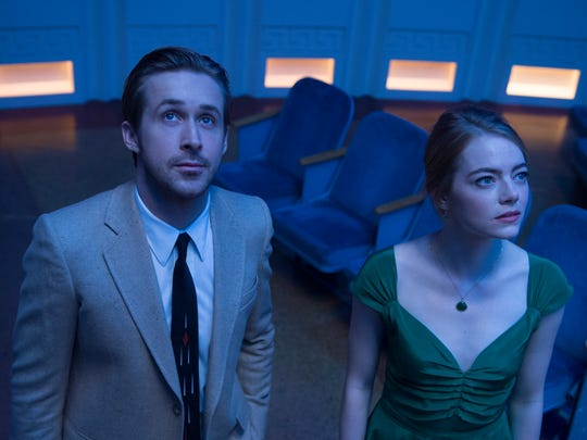 """This image released by Lionsgate shows Ryan Gosling, left, and Emma Stone in a scene from, """"La La Land."""" Producer Fred Berger is a Mamaroneck High School grad."""