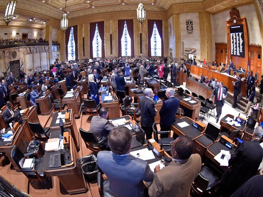 The House is shown during opening day at the Louisiana legislature April 10 in Baton Rouge. Many in the state House of Representatives don't trust Gov. John Bel Edwards' vision for Louisiana. (Bill Fig/The Advocate via AP, Pool)