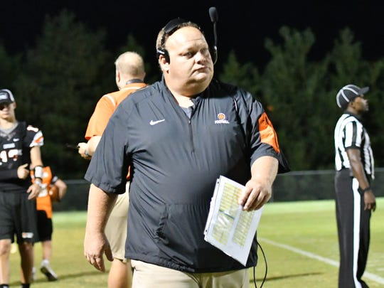 MTCS coach Fred Shambaugh watches as his squad took on DCA last week.
