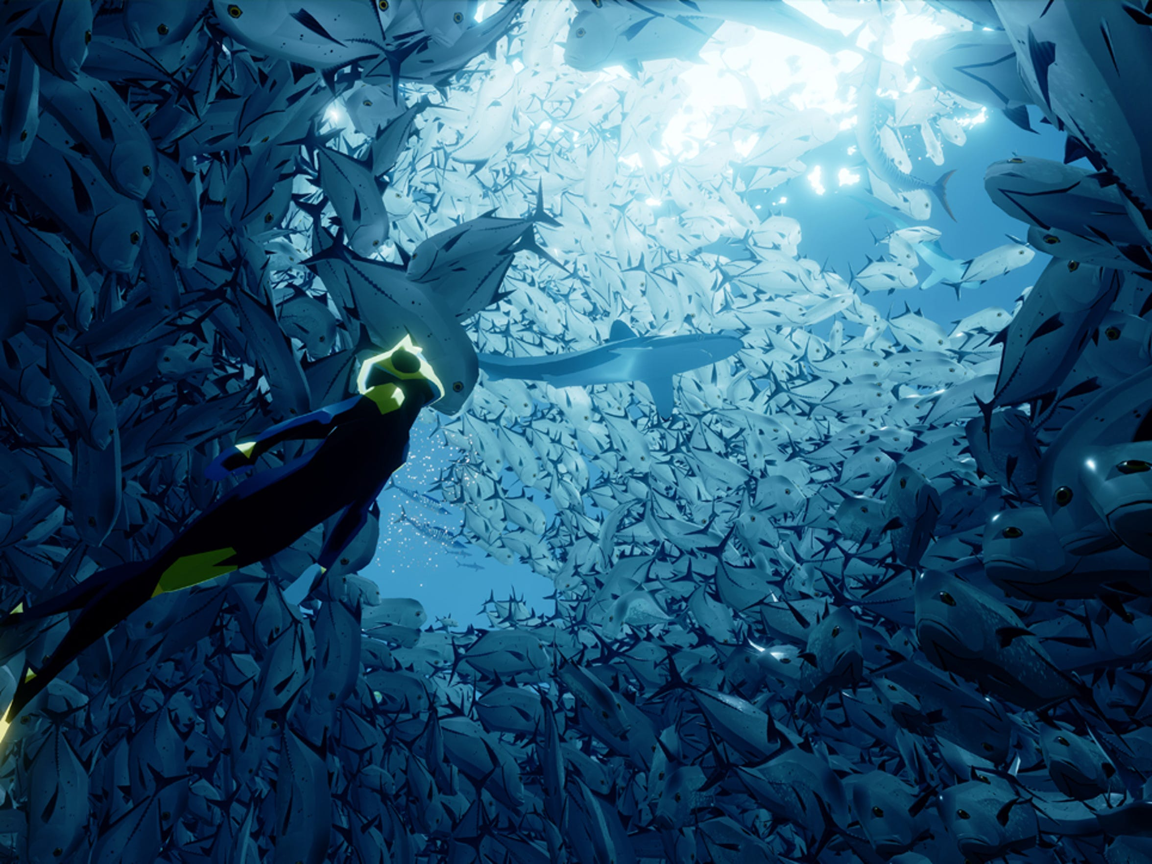 Incredible underwater visuals are Abzu's calling card.