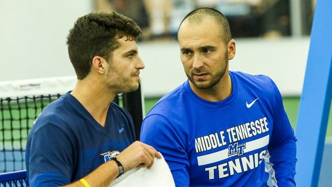 """Middle Tennessee State's men's tennis head coach Jimmy Borendame was tabbed """"College Coach of the Year"""" by the United States Professional Tennis Association for the year 2015."""