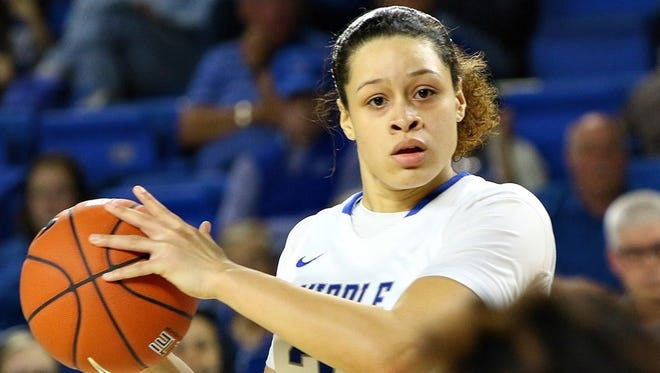 Forward TiAnna Porter provided a spark in Saturday's win scoring a season-high 13 points.