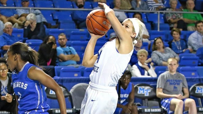 Katie Collier and the Lady Raiders fell in their regular season opener.