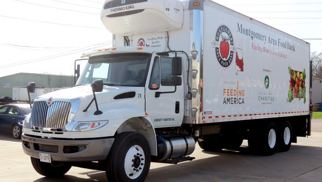 A new truck donated to the Montgomery Area  Food Bank will allow the nonprofit to deliver to more neighbors in need.