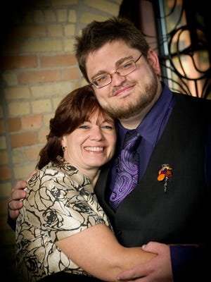 Columnist Chris Shields, right, and his mother, Kimberly, at Chris' wedding in October 2011.
