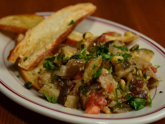 Caponata is a dish on the new lunch menu at Arthur Avenue in Birmingham.