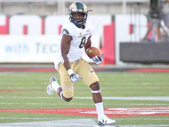 CSU's Detrich Clark turns the corner in open field