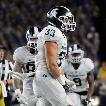 Michigan State University junior linebacker Jon Reschke