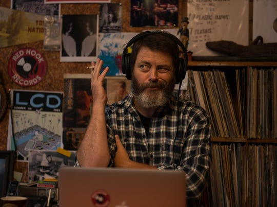 "Nick Offerman plays Frank Fisher, who owns a vinyl record shop in ""Hearts Beat Loud."""