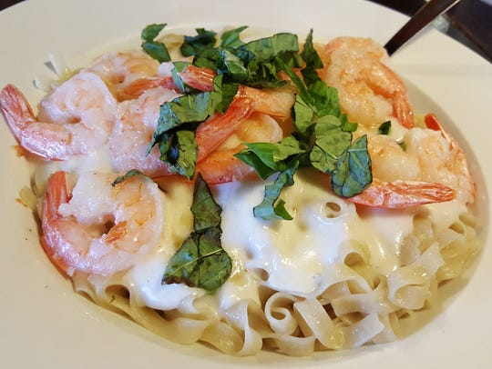 Shrimp Alfredo ($15) at Zeffiro Pizzeria Napoletana,