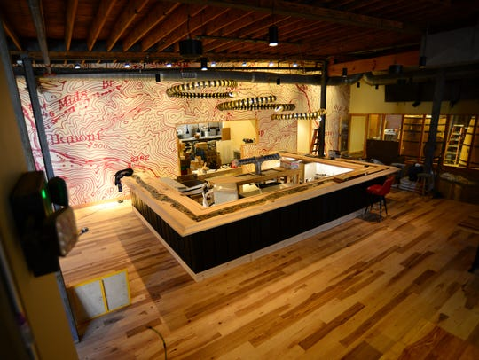 An overview of the bar at Elkmont Exchange Brewery