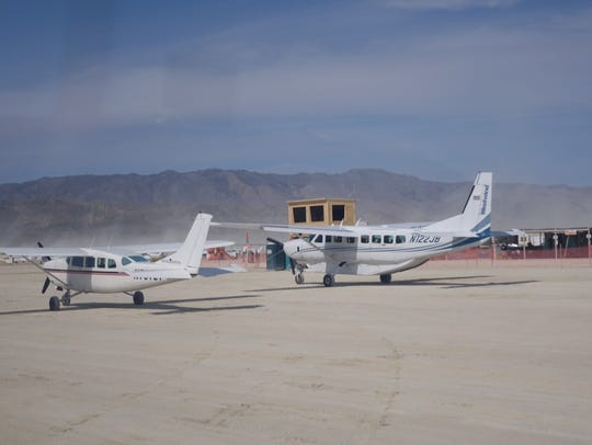 The Burning Man airport is licensed by the FAA. Small