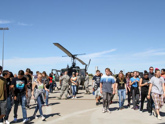 Students learned about different aircraft in the military at the New Mexico Aviation Aerospace Career Expo at Holloman Air Force Base Thursday morning.