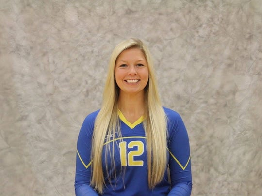 This has been a season to smile about for Madonna junior middle hitter Amanda Hawkins